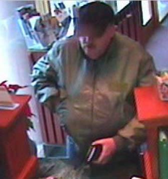 Tulsa, Oklahoma Bank Robbery Suspect, Photo 2 of 4 (12/11/09)