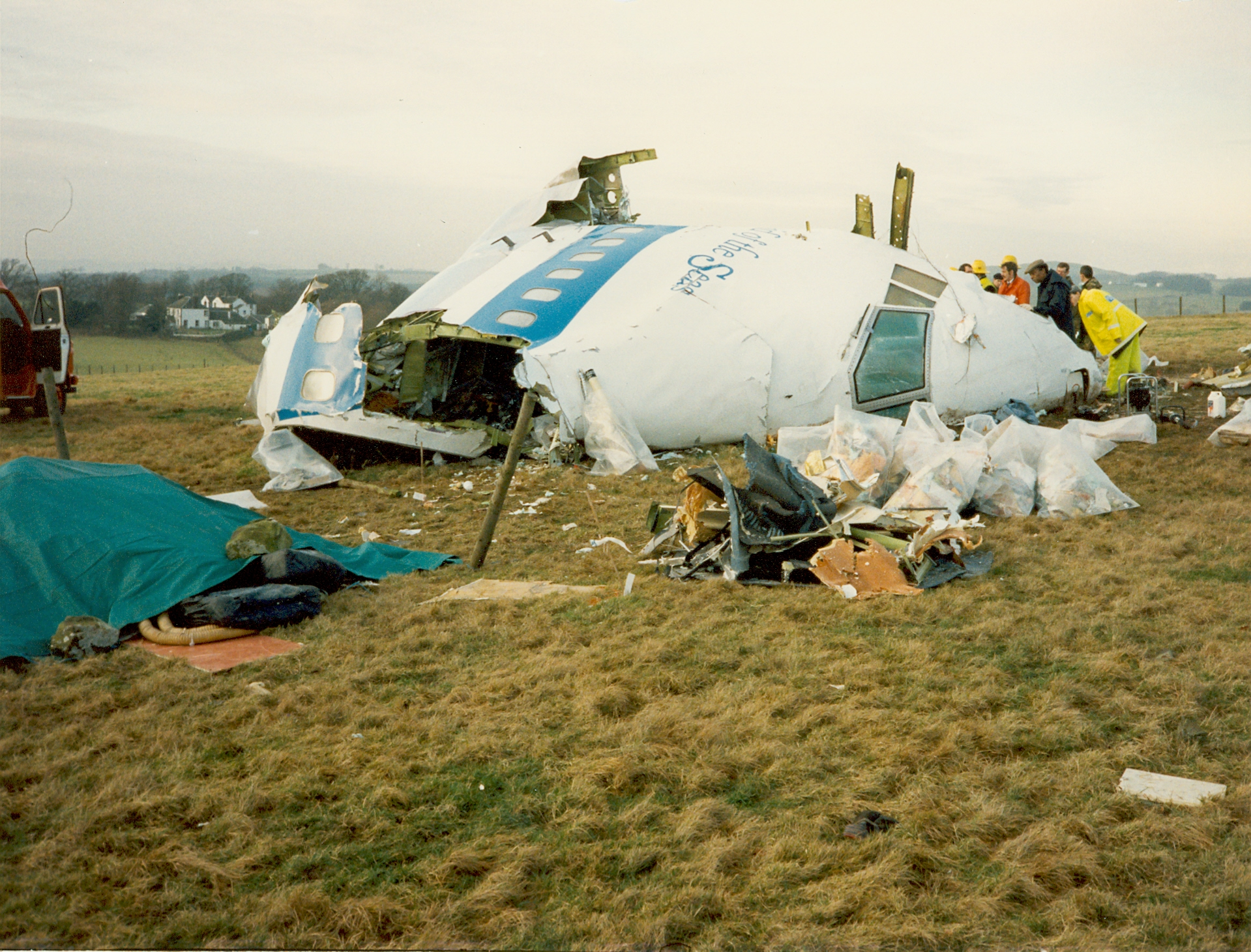 pan am flight 103 bombing Lockerbie plane and victim on december 21, 1988, pan american flight 103 flying  from london heathrow to jfk airport in new york exploded over lockerbie,.