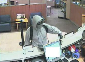 San Diego Bank Robbery Suspect, Photo 2 of 6 (1/25/13)