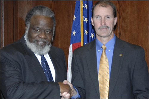 Reverend Hezekiah D. Stewart and the Special Agent in Charge