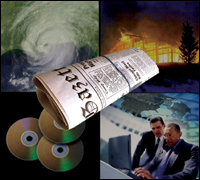 FBI news collage