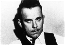 John Dillinger, who met his end on July 22, 1934