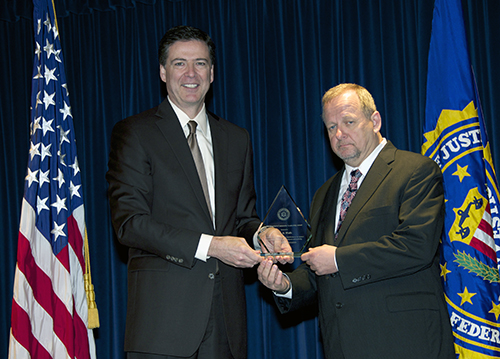Director Comey and Kim Wolfe