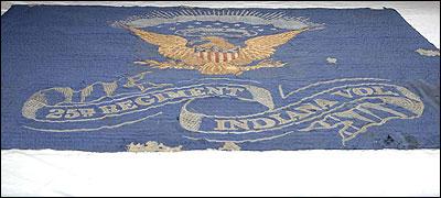 Recovered Civil War Flag