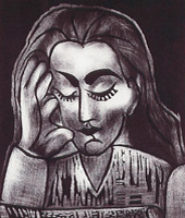 """Recovered Pablo Picasso Etching """"Jacqueline Lisant"""""""