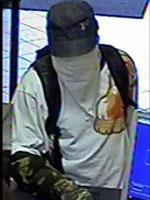 Norfolk Region Bank Robbery Suspect, Photo 3 of 3 (1/7/14)