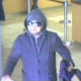 San Diego Bank Robbery Suspect, Photo 3 of 3 (12/28/12)