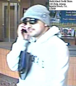 Imperial Beach, California Bank Robbery Suspect, Photo 5 of 5 (12/2/09)