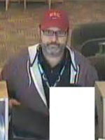San Diego Bank Robbery Suspect, Photo 2 of 2 (12/31/12)