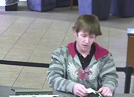 Knoxville Bank Robbery Suspect, Photo 4 of 4 (1/11/10)