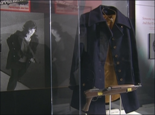 The coat and weapon used by Patty Hearst during her bank robberies with the Symbionese Liberation Army in the mid-1970s