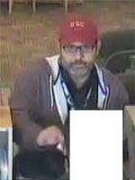 San Diego Bank Robbery Suspect, Photo 1 of 2 (12/31/12)