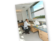 Photo of laboratory space in the FBI's new laboratory building.