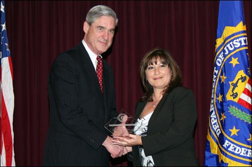 Director Mueller and Leticia Medina