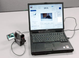 Figure 2 illustrates proof-of-principle digital video authenticator with a camcorder.