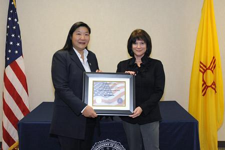 Susan Seligman, winner of the 2010 FBI Albuquerque DCLA award (12/10/10)