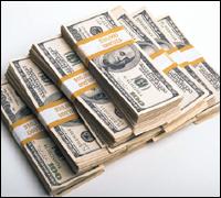 Pyramid of cash
