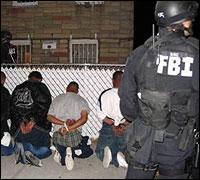 The FBI arrests suspected members of MS-13 in New York.