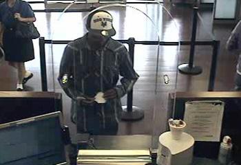 Houston Bank Robbery Suspect, Photo 1 of 3 (8/25/12)