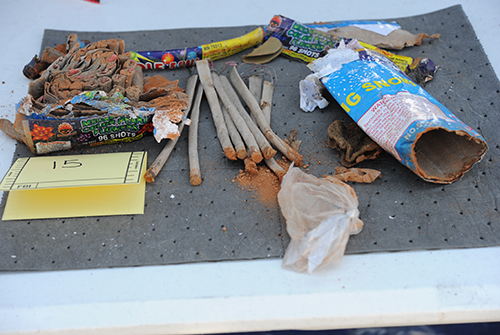 Opened and Emptied Fireworks