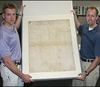 North Carolina FBI Agents with recovered Bill of Rights