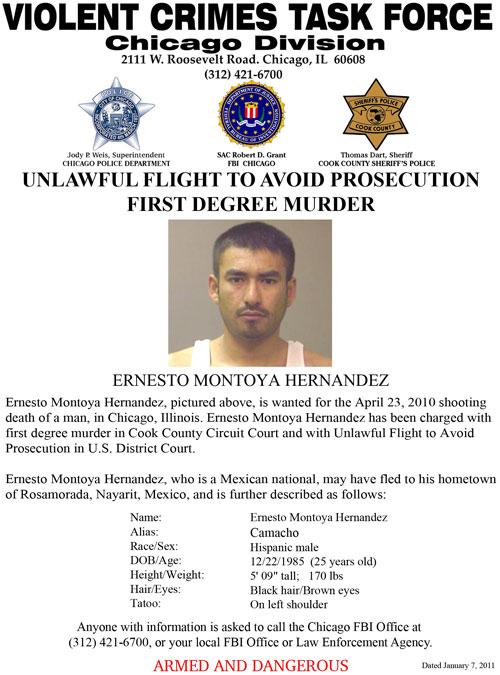 Chicago Murder Suspect Ernesto Montoya-Hernandez (8/9/11)