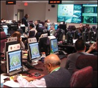 Inside the Joint Operations Center during the 2007 Super Bowl in Miami.