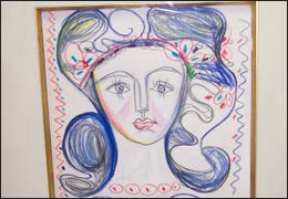 "Counterfeit Picasso print of ""Francoise Gilot"""