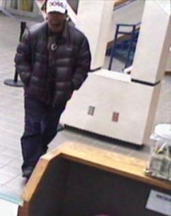 Oklahoma City Bank Robbery Suspect, Photo 3 of 5 (2/14/13)
