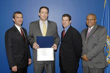 From Left to Right: SAC John Gillies, ADL Florida Regional Director Andrew Rosenkranz, ADL Southern Area Legal Counsel David Barkey, and Community Outreach Specialist Jeff Green.