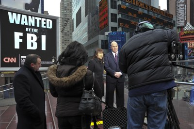 FBI New York Officials Announce Billboard Initiative in Times Square in January 2010
