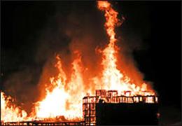 Colorado Ski Resort in Flames