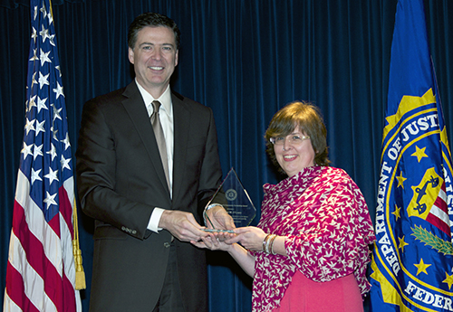 Director Comey and Claudine O'Leary