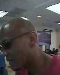 Houston Bank Robbery Suspect, Photo 2 of 3 (8/6/12)