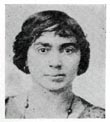 Figure 2: Early 20th-century black-and-white photograph (full front head) of a young woman with both African-American and Caucasian ancestry.