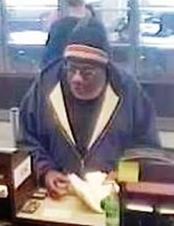 Denver Bank Robbery Suspect, Photo 1 of 2 (4/8/14)