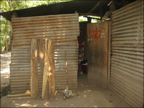 A Guatemala dwelling where one of the girls lived with her family before being smuggled to the U.S.