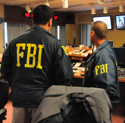 FBI Agents in the Command Post during this morning's arrests, Photo Credit: Rebecca Callahan, FBI Cyber (Patch)