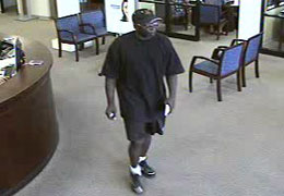 Bellaire, Texas Bank Robbery Suspect, Photo 4 of 4 (9/7/10)