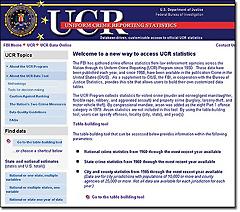 UCR Data Tool screenshot