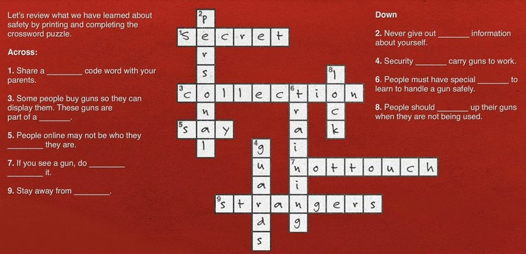 Fbi Safety Tips Crossword Puzzle Answers