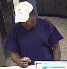 Denver Bank Robbery Suspect, Photo 2 of 4 (9/28/11)