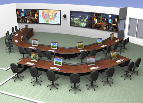 Achitectural rendering of the planned Director's Command Staff and Operations Room, base of operations for the FBI Director while in SIOC