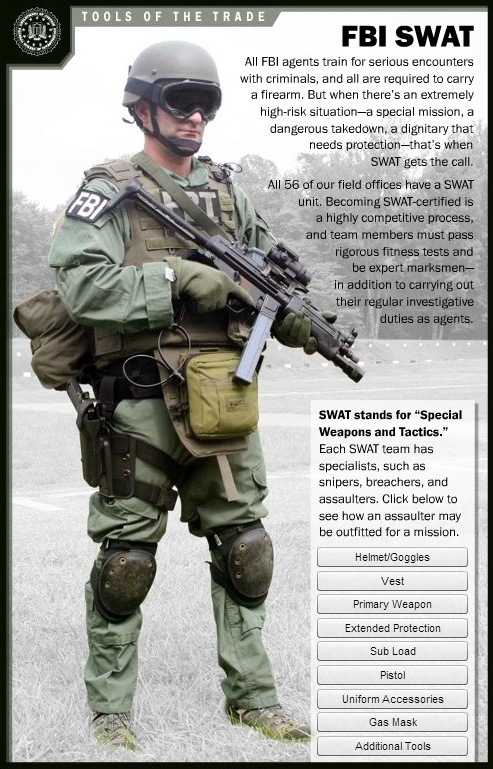 SWAT Team Member Full Screen