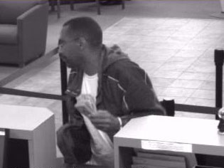 Knoxville Bank Robbery Suspect, Photo 2 of 2 (10/30/09)