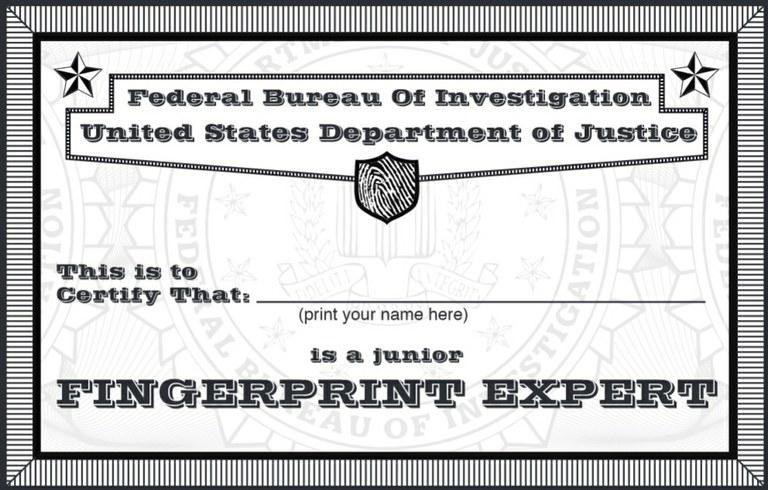 About the FBI: Fingerprint Expert Credential