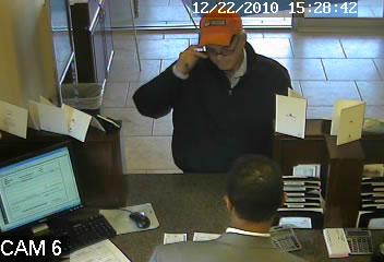 Edmond, Oklahoma Bank Robbery Suspect, Photo 1 of 4 (12/22/10)