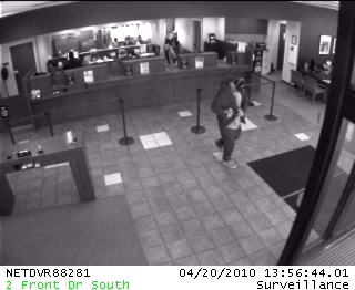 Villa Park Bank Robbery Suspect, Photo 1 of 2 (4/20/10)