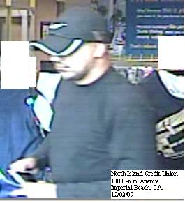 Imperial Beach, California Bank Robbery Suspect, Photo 3 of 5 (12/2/09)