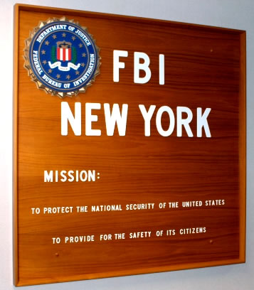 FBI New York Sign and Mission